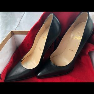 Christian Louboutin Black Pigalle Plato 120 mm